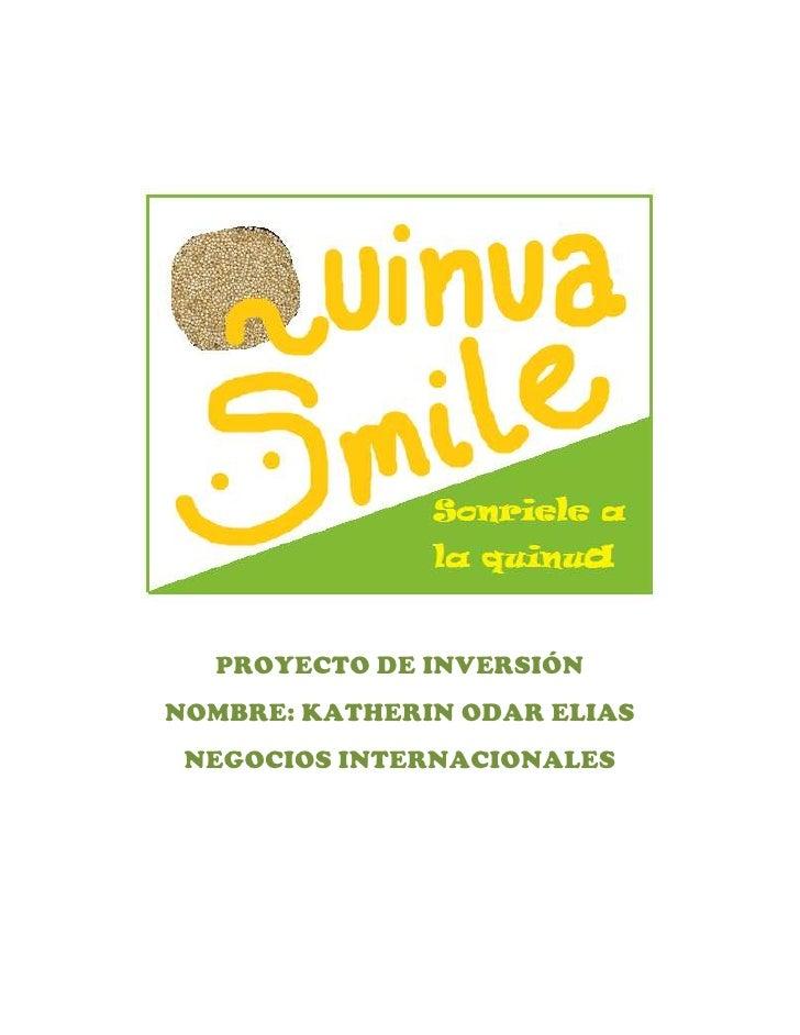 Producto Quinua smile