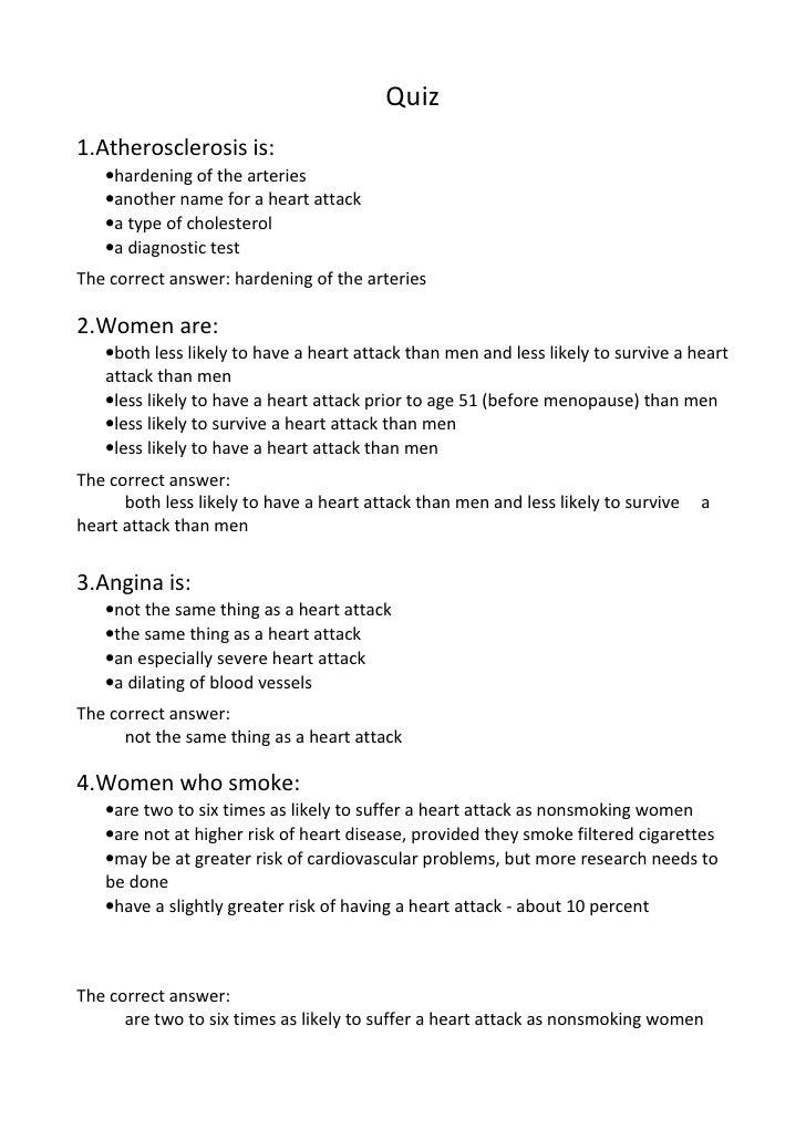 Quiz 1.Atherosclerosis is:        •hardening o...