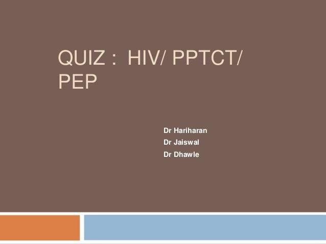 Quiz On HIV for PGs, FOGSI HIV DAY