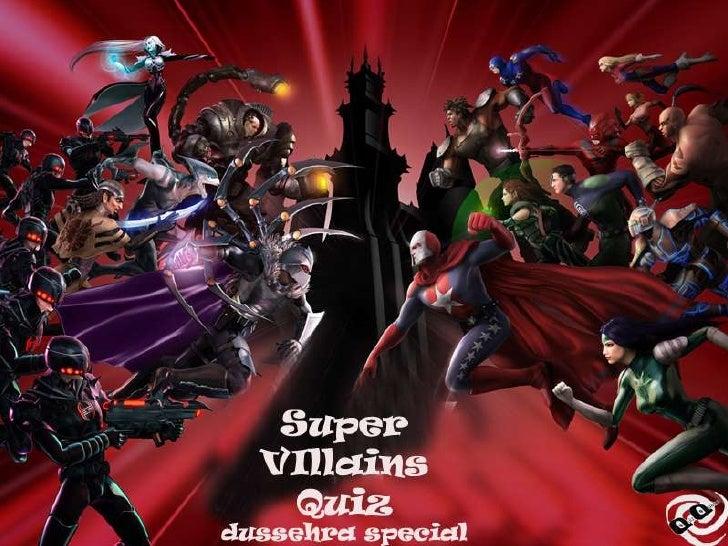 The Super Villain Quiz