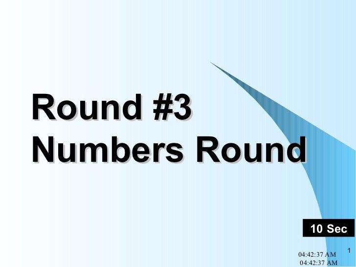 Round #3 Numbers Round