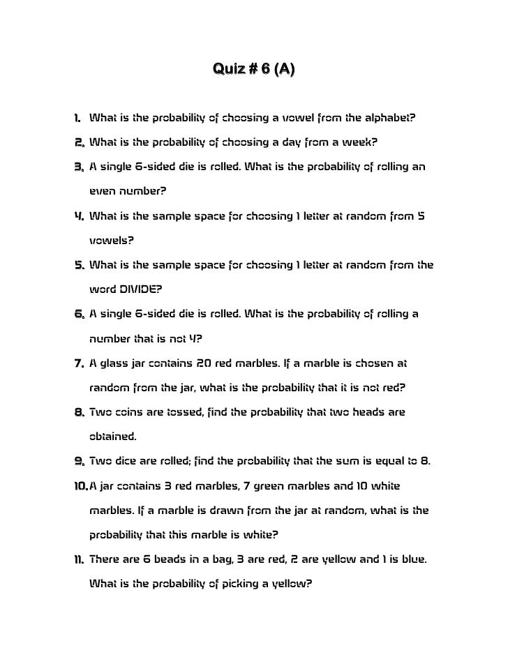 Exam Questions on Basic Statistics