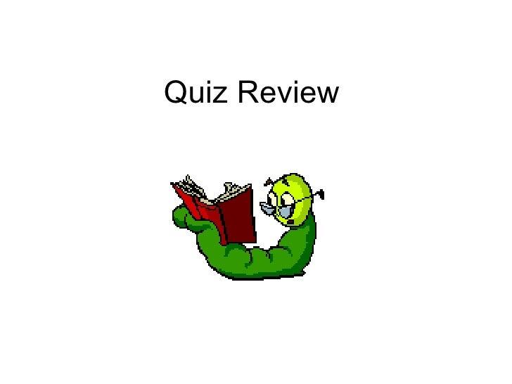 Quiz 9 22 Review