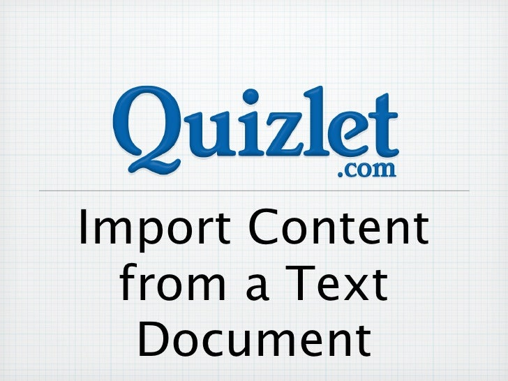 Import Content  from a Text   Document