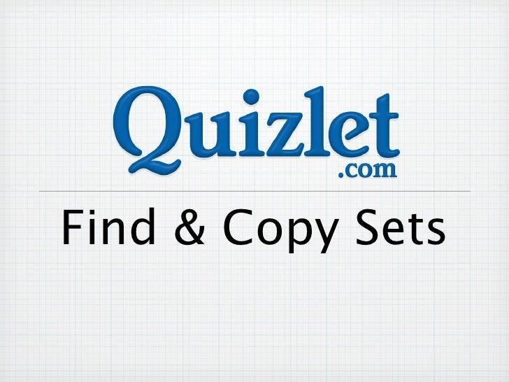 Find & Copy Sets