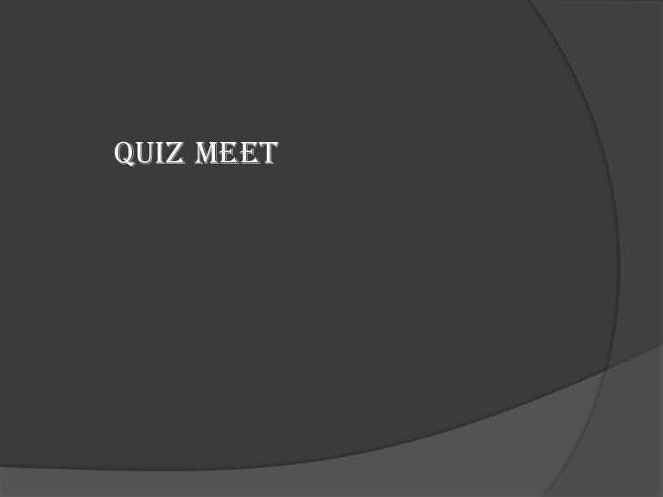 Quiz Meet