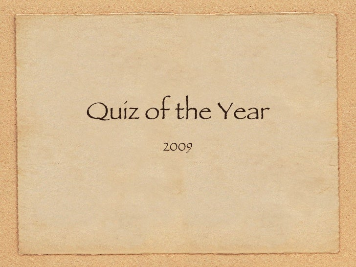Quiz Of The Year