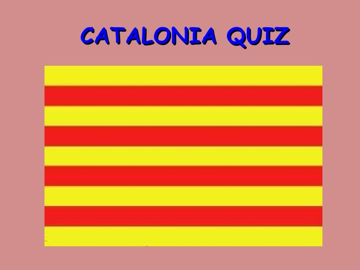 Quiz on catalonia