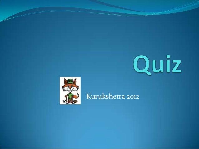 Quiz Prelims 2012