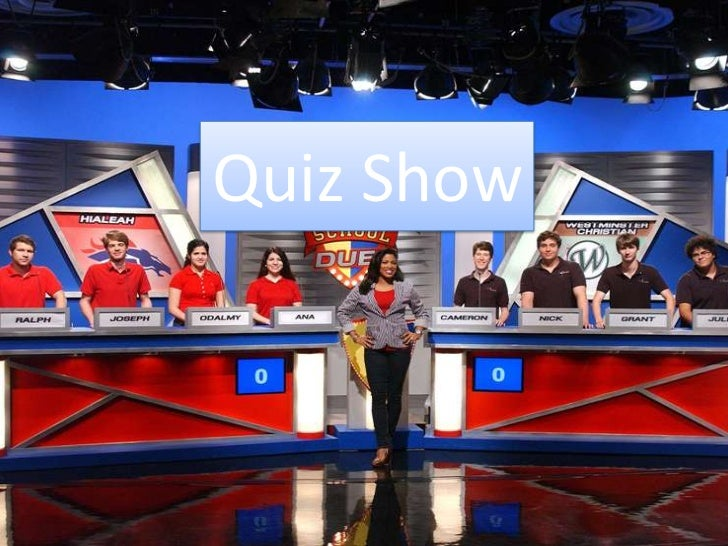 quiz show Play a television quiz on sporcle, the world's largest quiz community sporcle has 49,928 television quizzes that have been played 140,799,287 times play quizzes ad-free we're still waiting for that long-rumored gunther spin-off show angry tv characters.