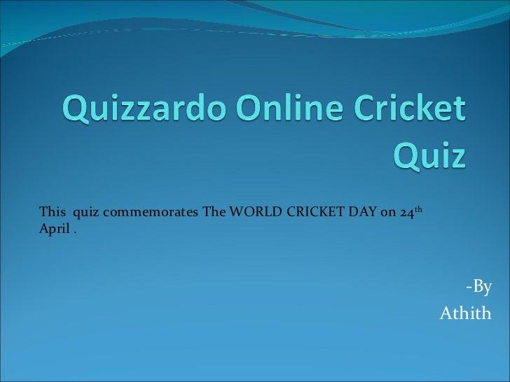 Quizzardo online cricket quiz