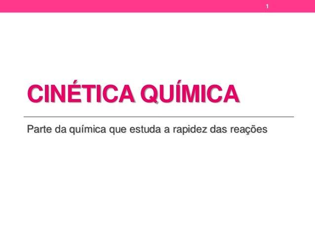 Química   cinética química