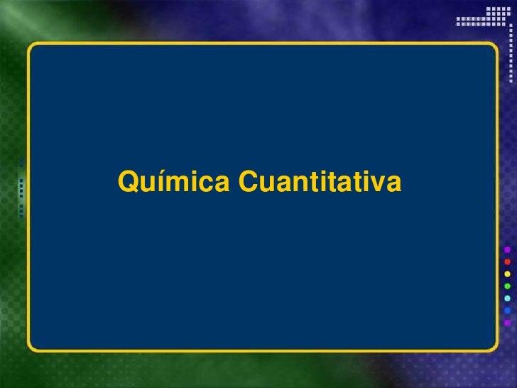 Química cuantitativa