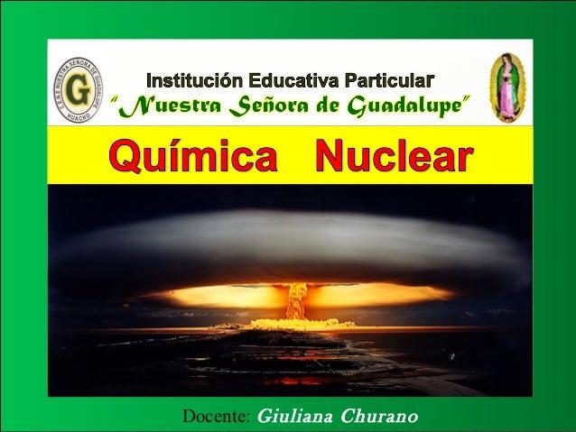 Docente: Giuliana Churano