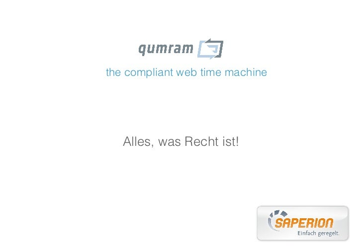 the compliant web time machine   Alles, was Recht ist!