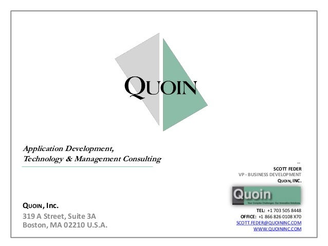 Application Development,Technology & Management Consulting                              --                                ...