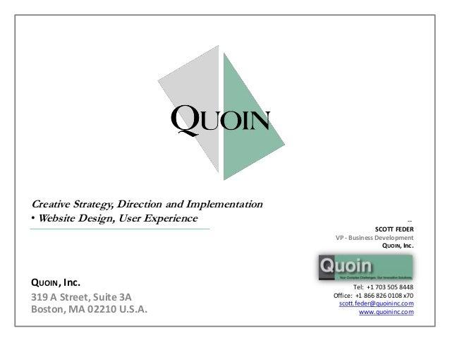 QUOIN Website Design