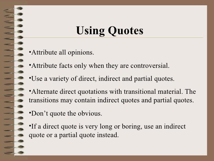 Paraphrase quotes
