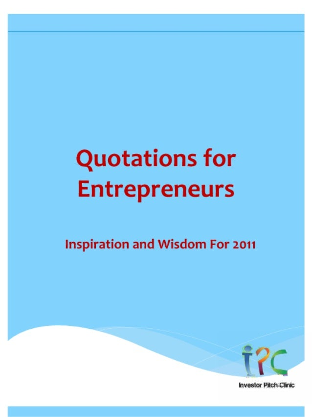 Quotations for entrepreneurs