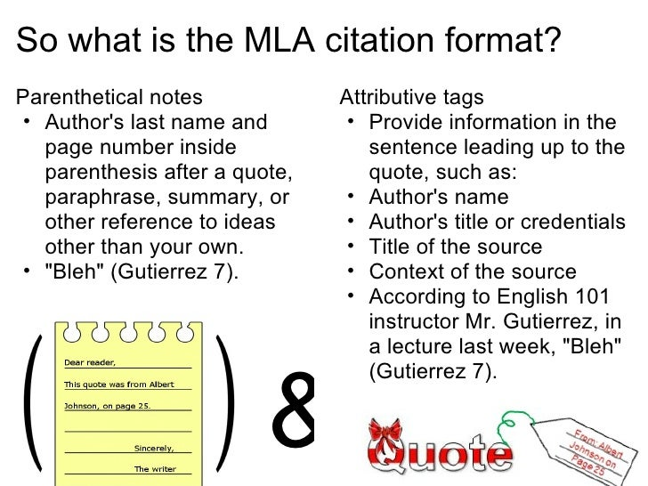 How to format quotes in an essay mla