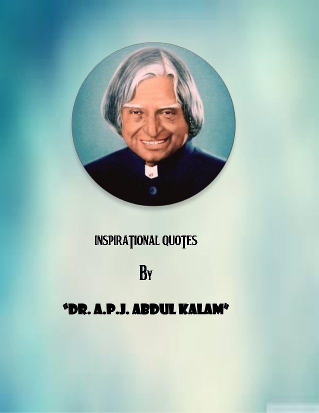 inspirational quotes by dr a p j abdul kalam
