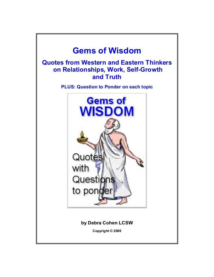 Quotes & gems of wisdom