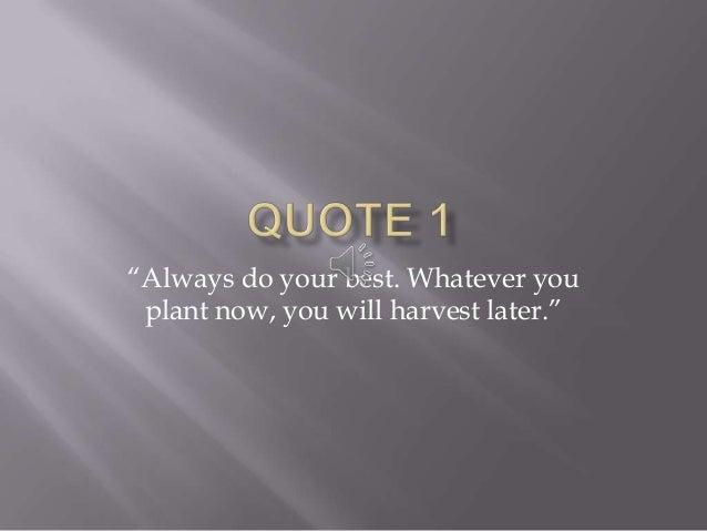 Quote slideshow