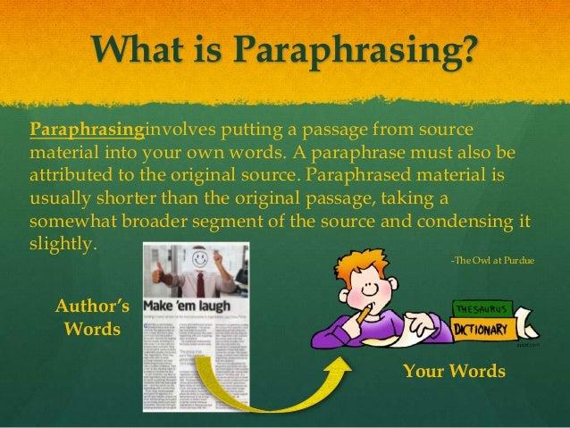 Paraphrasing quotes
