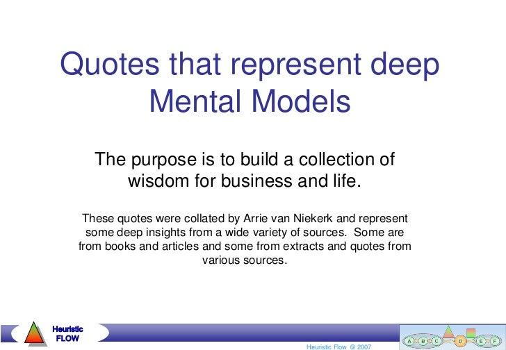 Quotes that represent deep mental models