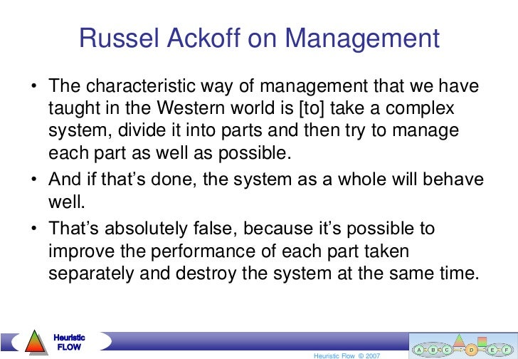 Russel Ackoff on Management•