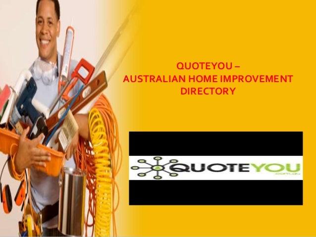Quoteyou - Australian Home Improvement Directory
