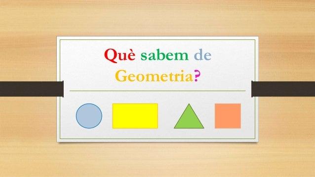 Què sabem de Geometria?
