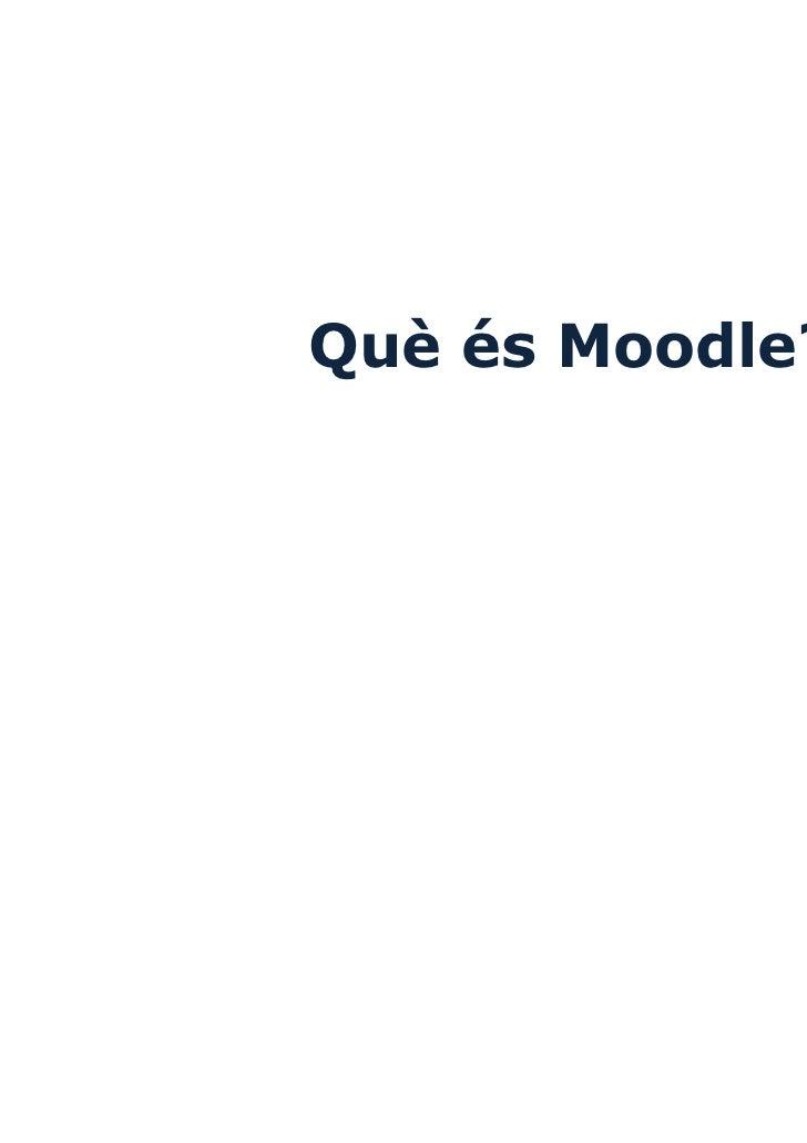 Què és Moodle?