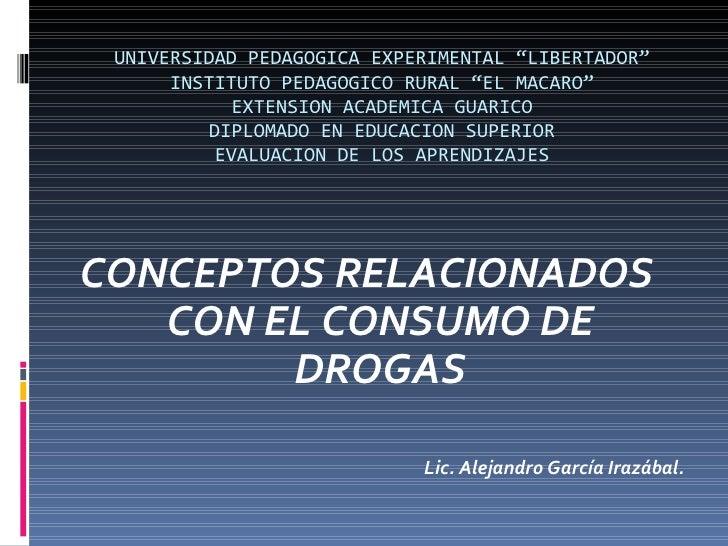 "UNIVERSIDAD PEDAGOGICA EXPERIMENTAL ""LIBERTADOR"" INSTITUTO PEDAGOGICO RURAL ""EL MACARO"" EXTENSION ACADEMICA GUARICO DIPLOM..."