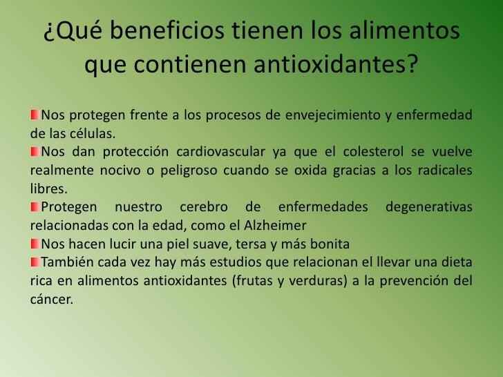 Qu son los antioxidantes - Que alimentos son antioxidantes naturales ...