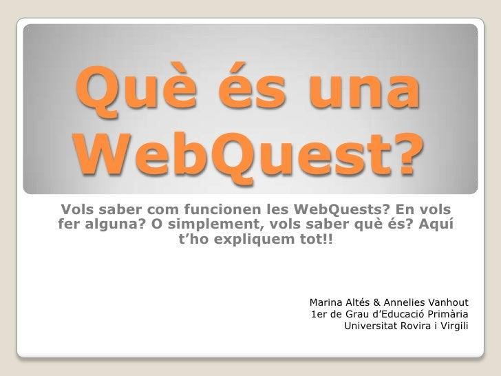 Què és una WebQuest