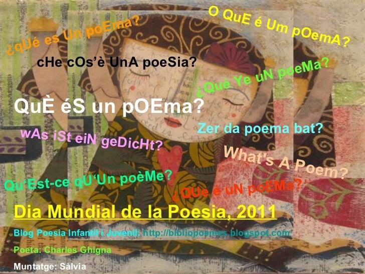 Que es un poema?