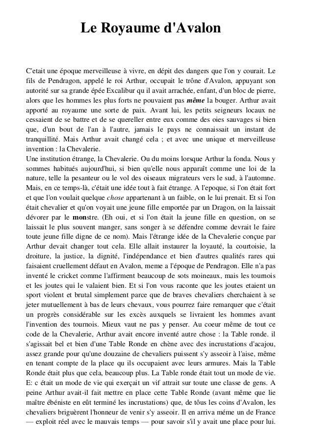 Qu te du graal 1 le chateau des tenebres - Liste des chevaliers de la table ronde ...