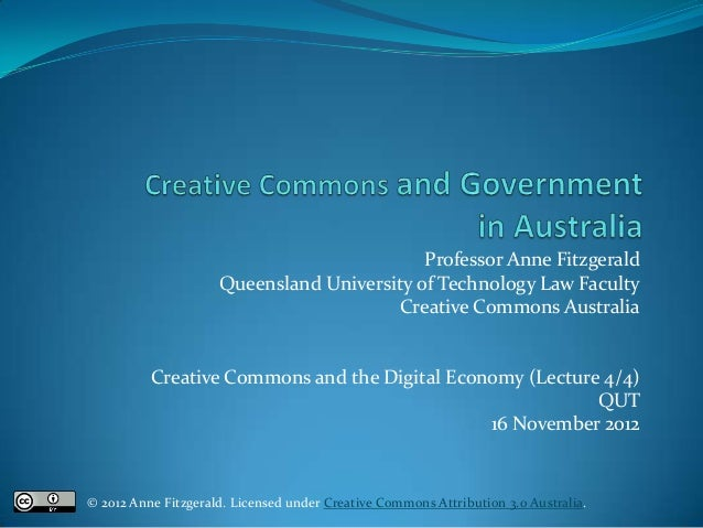 Creative Commons and Government in Australia