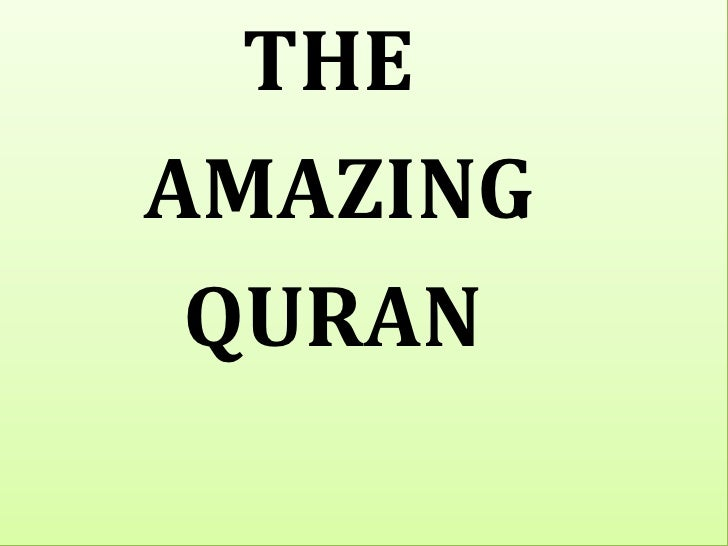 The Awesome Quran