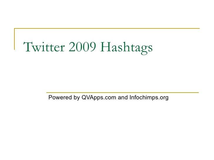 QVApps Twitter Hashtags 2009