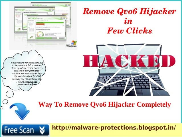 Remove Qvo6 Hijacker Safely From Infected System