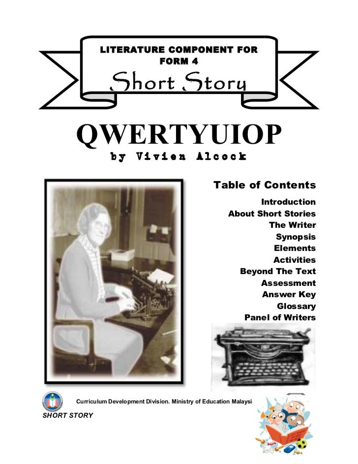 qwertyuiop short story 10 synopsis qwertyuiop tells of a young secretary's struggle with her predecessor to hold on to her job by communicating through the electric typewriter.