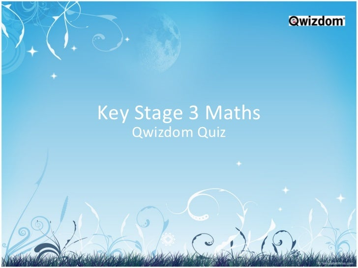 Key Stage 3 Maths Qwizdom Quiz