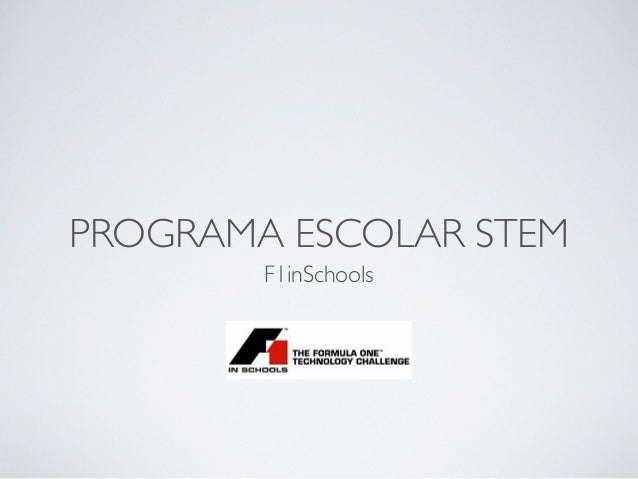 Roteiro do Programa F1inSchools