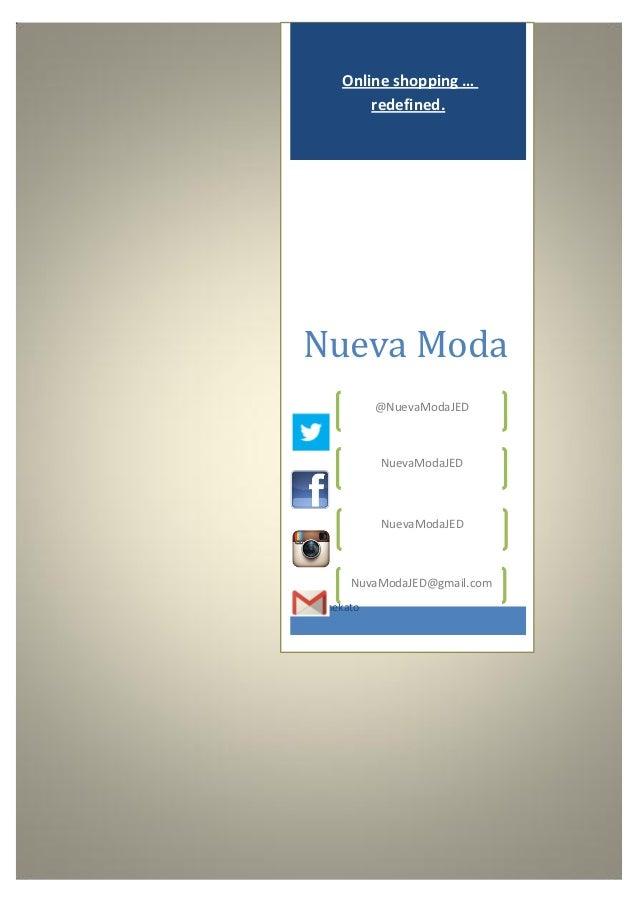 Online shopping …           redefined.Nueva Moda              @NuevaModaJED              NuevaModaJED              NuevaMo...