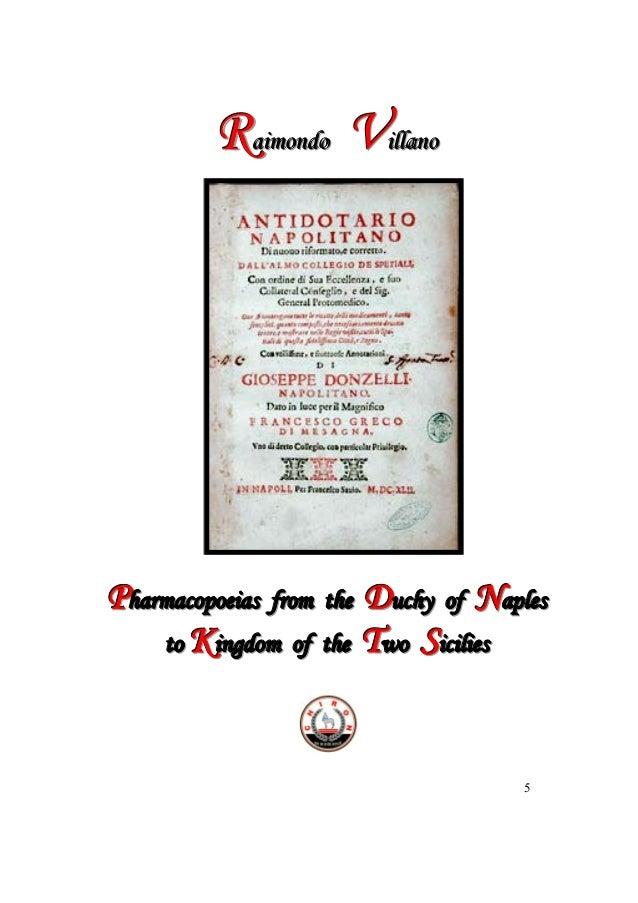 Raimondo Villano - Pharmacopoeias from the Ducky of Naples to Kingdom of the Two Sicilies