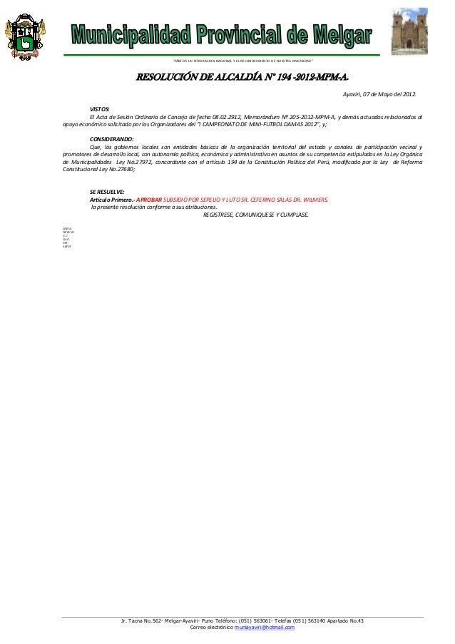 R.a. no.194 subsidiio por sepelio y  luto ceferino mamani salas(1)
