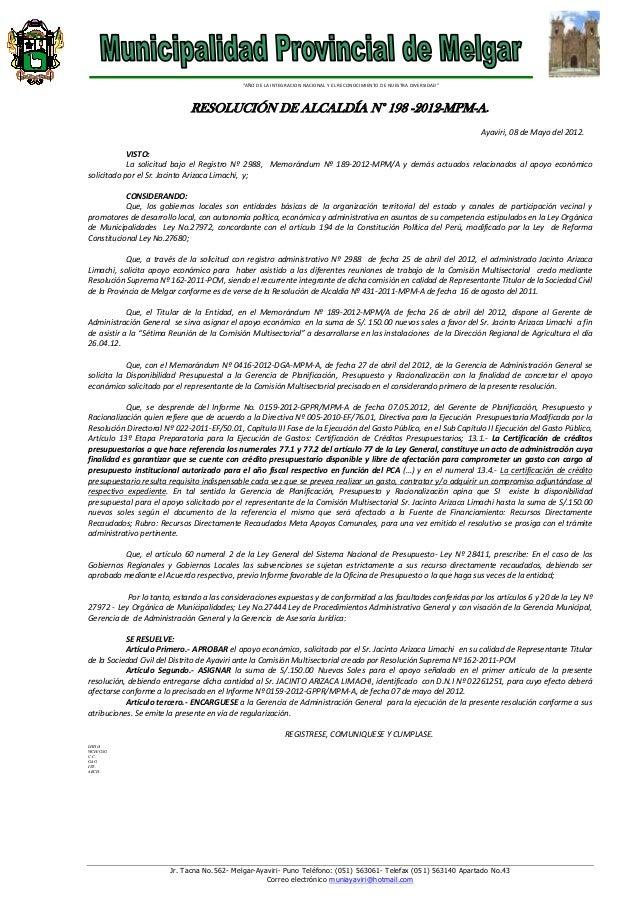 R.a. no.198 apoyo economico cedirca(1)