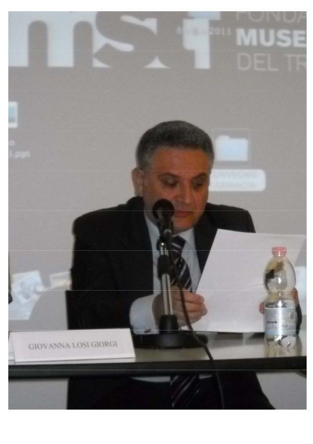 1 / 7 CONFERENZA Elementi di sicurezza e qualità farmaceutica dal 'secolo breve' a oggi Raimondo Villano Accademico Effett...